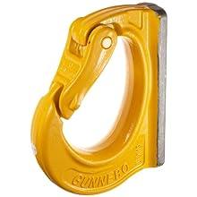 "Gunnebo Johnson 589587 Weld-On Hook, 8.7"" Length, 33060 lbs Working Load Limit"