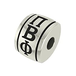 Pi Beta Phi Barrel Sorority Bead Fits Most European Style Bracelets Including Chamilia Biagi Zable Troll and More. High Quality Bead in Stock for Immediate Shipping