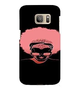 PrintVisa Cool Silhouette Man Design 3D Hard Polycarbonate Designer Back Case Cover for Samsung Galaxy S7