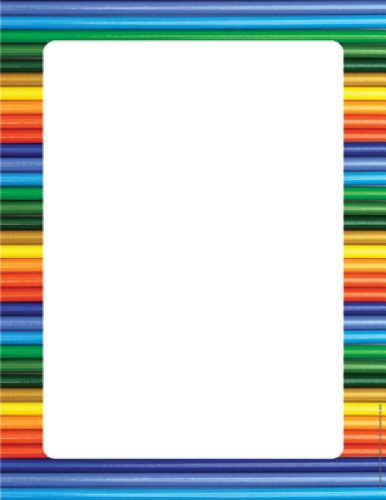 Eureka Computer Paper, Colored Pencils, Package Of 50 Sheets (812123) front-60824