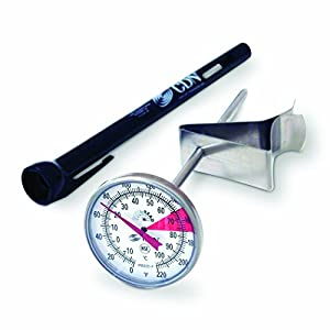 CDN IRB220-F ProAccurate Insta-Read NSF Beverage and Frothing Thermometer, 5-inch stem from CDN