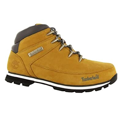 Timberland Euro Sprint Wheat Leather Mens Boots Size 11.5 US