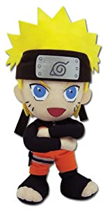 "GE Entertainment Naruto Shippuden Plush Toy - 8"" Naruto (GE-8900)"