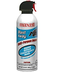 Maxell 190025 Blast Away Canned Air 154a CA-3 1-Pack