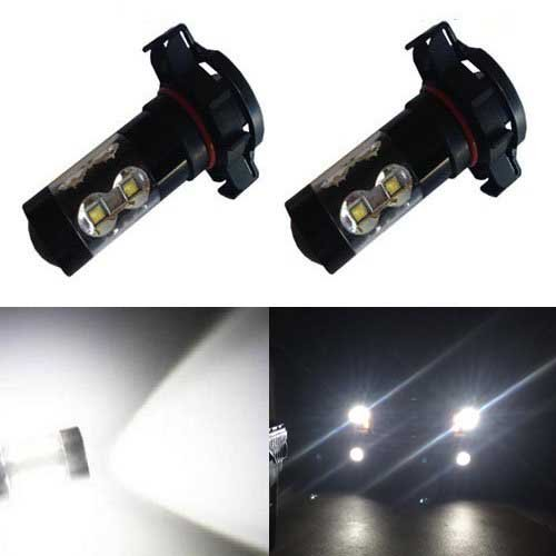 JDM ASTAR Extremely Bright Max 50W High Power PSX24W 2504 LED Bulbs for DRL or Fog Lights, Xenon White (2014 Wrangler Fog Light compare prices)