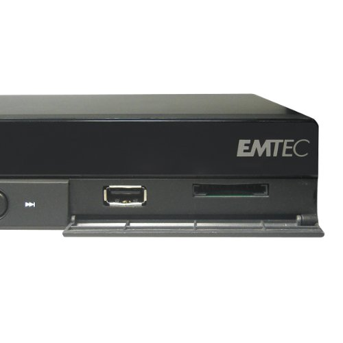 Emtec D850H Movie Cube Full-HD Multimediaplayer mit Festplatte 1TB (DVD-Player, DVB-T, HDMI, 1080p, USB)