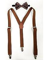 AccessoryStation® Surprenant unisexe bretelles et correspondre couleurs nœud de cravate mttre combo cadeau pack (paillettes en argent)
