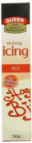 Queen Red Writing Icing 50 g (Pack of 6)