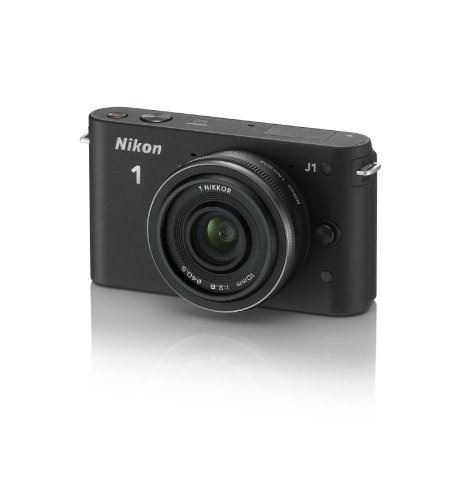Nikon 1 J1 Compact System Camera with 10mm Lens Kit - Black (10.1MP) 3 inch LCD