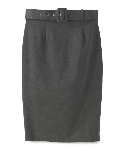 Signature Ponte Knit: Belted High-Waist Pencil Skirt