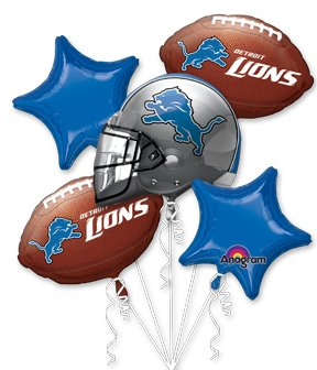 Anagram International Bouquet Lions Party Balloons, Multicolor at SteelerMania