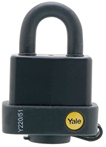 Yale Y220/51/118/1 Laminated Steel Padlock with Vinyl Cover and 5-Pin Covered Key Cylinder, 2-Inch Wide at Sears.com