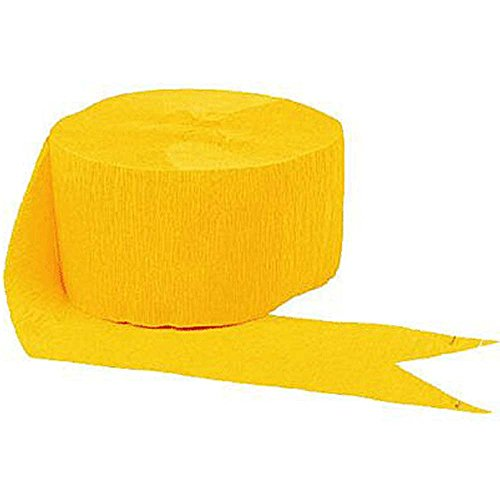 "Mylife Sunflower Yellow - Crepe Paper Roll Streamer ""Decoration And Craft Supply"" 81 Feet / 24.7 Meters (Ideal For Super Bowl Sunday) front-115814"