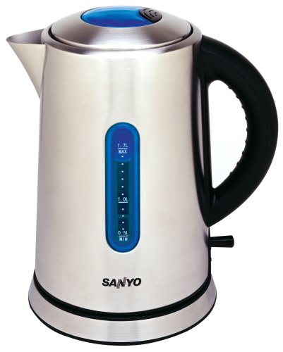 Sanyo U-K170S 1-3/4-Quart Stainless-Steel Electric Kettle
