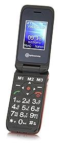 Amplicomms PowerTel M6700i SIM-Free Mobile Phone - Red