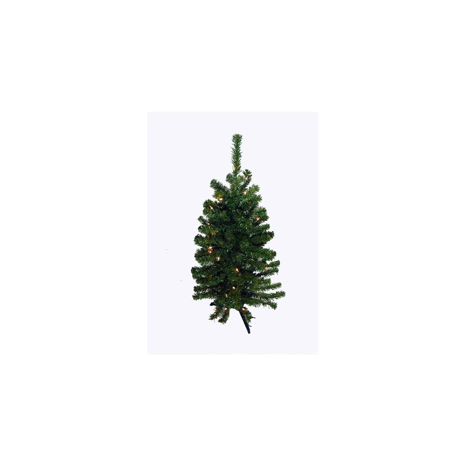 3 Battery Operated Pre Lit LED Pine Artificial Christmas Tree   Clear Lights