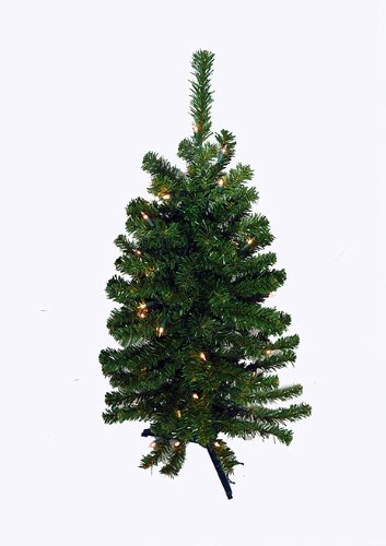 3' Pre-Lit Artificial Table Top Christmas Tree