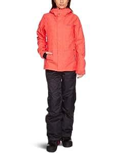 O'Neill Women's Frame Oa Snow Jacket   -  Pink Aop, Large