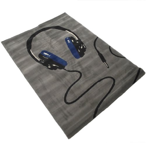 Large Modern Designer Grey Rug 120 x 170 cm
