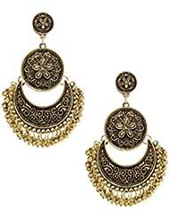 Bellofox New Antique Gold Plated Partywear Dangle Earring For Women & Girls / Fashion Jewelry