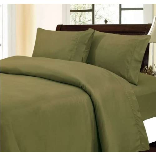 400 Thread Count 100% Egyptian Cotton Solid Moss Full 20