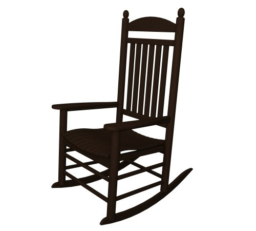 polywood outdoor furniture jefferson rocker mahogany recycled plastic materials. Black Bedroom Furniture Sets. Home Design Ideas