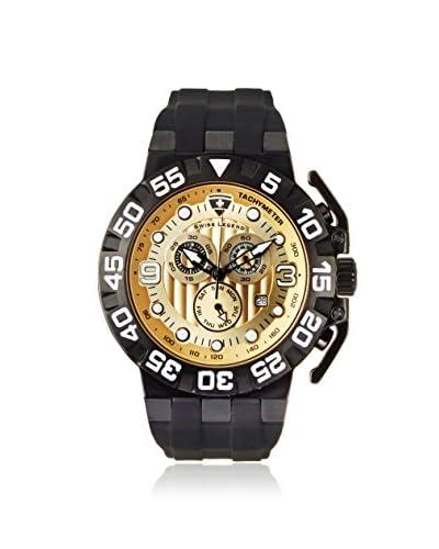Swiss Legend Men's 10125-BB-010 Challenger Black/Champagne Silicone Watch