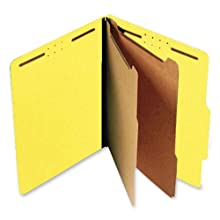 S J Paper S60406 S J Paper Expanding Classification Folder, Ltr, 6-Section, Bright Yellow, 15/Box