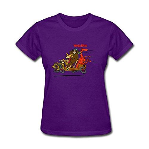 Jonnert Women's Wacky Races Cartoon Short Sleeve T