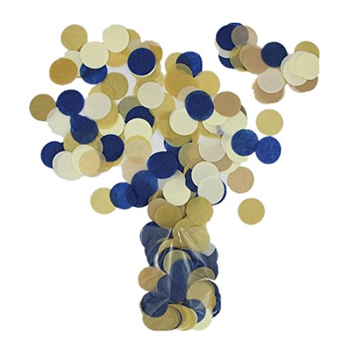 Parmay 1 Inch Navy Gold Confetti Bachlorette Party Pack of 2800