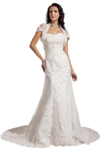 bride designer mermaid lace court train wedding dress size 8 ivory