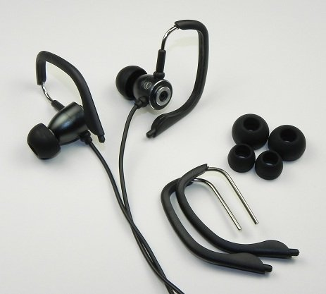 Sound2 Sport Model Earphones With Two Sizes Of Ear Hooks For A More Secure Fit