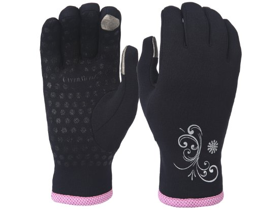 Trailheads Power Stretch Women'S Running Gloves - Black / Fast Pink (Small)
