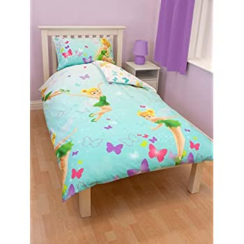 pas cher parure linge de lit housse de couette taie d oreiller enfant fairies fee clochette. Black Bedroom Furniture Sets. Home Design Ideas
