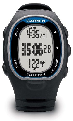 Garmin Fr70 Orologio Fitness con Memoria Interna, Comunicazione Ant e Fascia Cardio Soft Premium, Nero/Blue