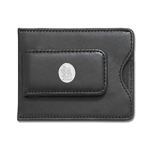 MLB Logo Black Leather Money Clip Credit Card ID Holder by Logo Art