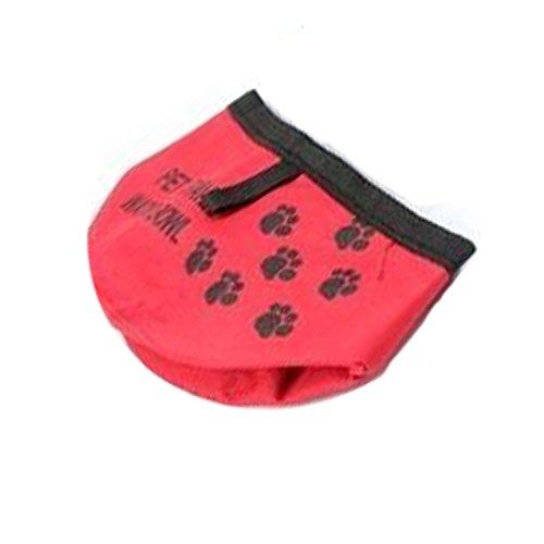 Artikelbild: NK store Mode tragbare Falten Haustier Wasser Reise Schüssel für Hunde Katze schöne Fußabdruck Futter Getränk Hund Katze Produkte, rot