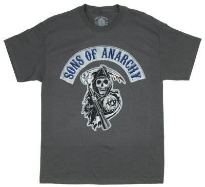 Sons Of Anarchy T-shirt: Adult XL - Charcoal