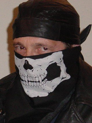 NEW Skull Half Face Biker Bandana Mask Motorcycle Skeleton Jawbone Wild Hogs Style Neck Scarf Blocks Wind, Dust, Exhaust, Sun Protection , Cosplay, Paintball, Airsoft