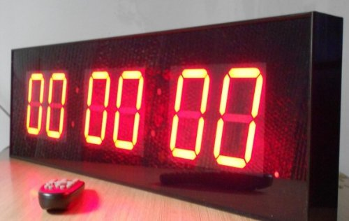 """Gowe Extra Large 4"""" Led Count Down, Up, Interval Timer, Stopwatch Remote Control Clock, Dimensions: 29"""" W X 7.8"""" H X 2"""" D"""