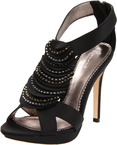 Bourne Women's Georgia Black Platform Heel L08508 6 UK