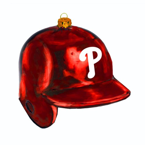 Kurt Adler 5-Inch Glass Phillies Batting Helmet Ornament at Amazon.com