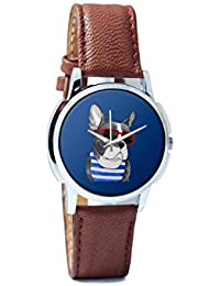 BigOwl Attractive Summer Style Dog Men's Analog Wrist Watch 2003648302-RS1-W-BRW