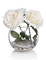 Soft Touch Roses in Glass Bowl