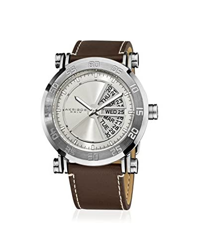 Akribos XXIV Men's AK552SS Brown Leather Watch
