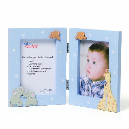 Gund Baby Double Opening Photo Frame, Blue (Discontinued by Manufacturer)