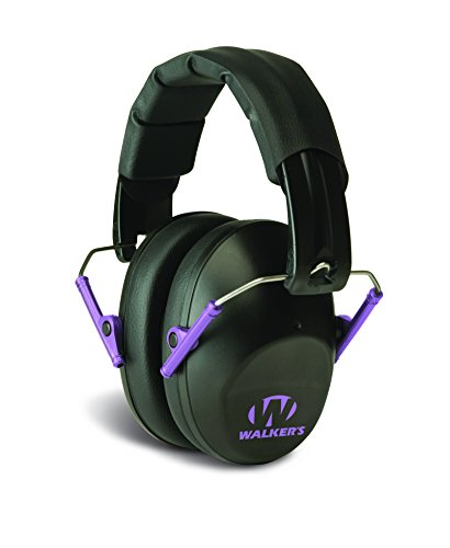 Walkers Game EarWalker's Pro-Low Profile Folding Muffs, Purple Accent (Passive Hearing Protection compare prices)