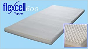 Flexcell 600 Comfort Air 6cm Memory Foam Topper with removable washable Cover   Double 4&'6 from Creating Comfort       Customer reviews and more information