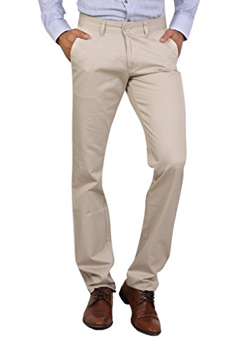 Bottom's Cotton Chinos Beige Colored Trouser For Men