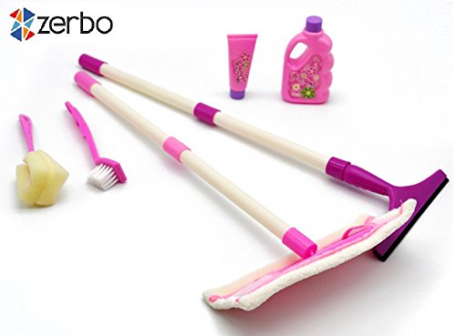 ZERBO-Small-Sized-Housekeeping-Cleaning-Play-Set-for-Children-to-Pretend-Role-play-House-for-Little-Helper-Kids